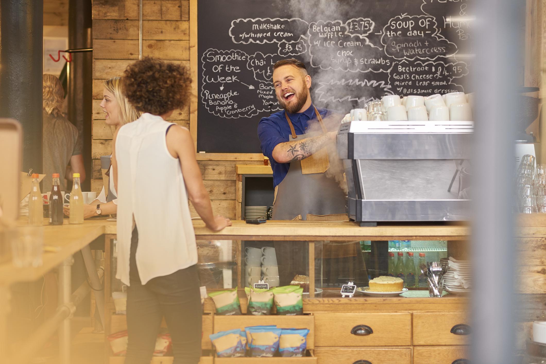 Das Café wird zum Coffeeshop